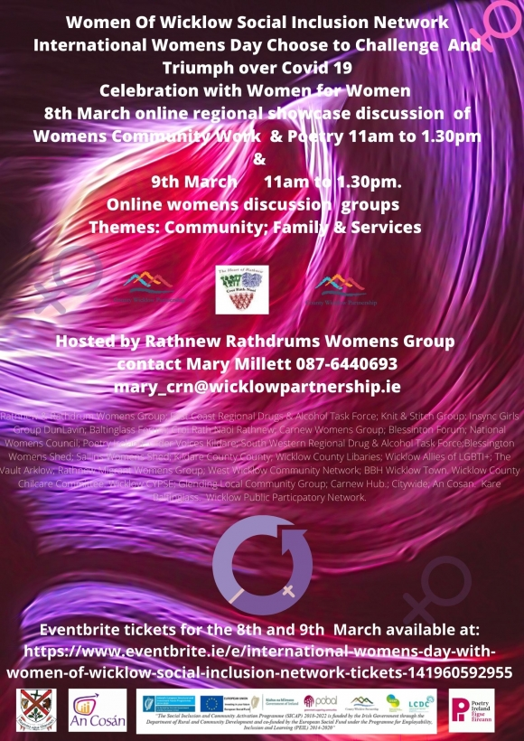Women of Wicklow Social Inclusion Network -  Invite you to celebrate International Womens Day