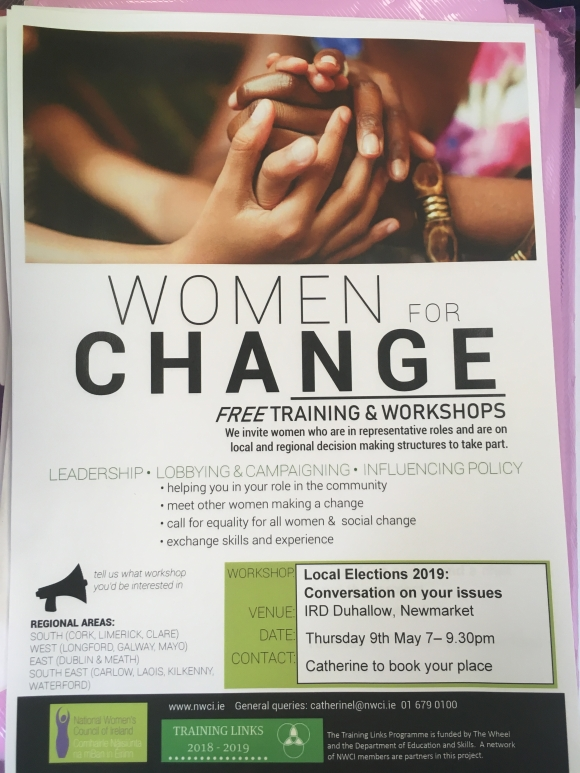 North Cork: Women for Change: Local Elections 2019 The issues that matter to you