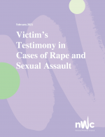 Victim's Testimony in Rape and Sexual Assault