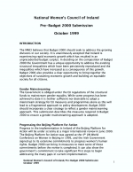 NWCI Pre-Budget Submission 2000