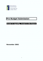 NWCI Pre-Budget Submission 2003