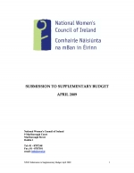 NWCI Pre-Budget Submission 2009 - Supplementary Budget