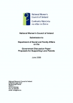 NWCI Submission to the Department of Social and Family Affairs on Proposals for Supporting Lone Pare