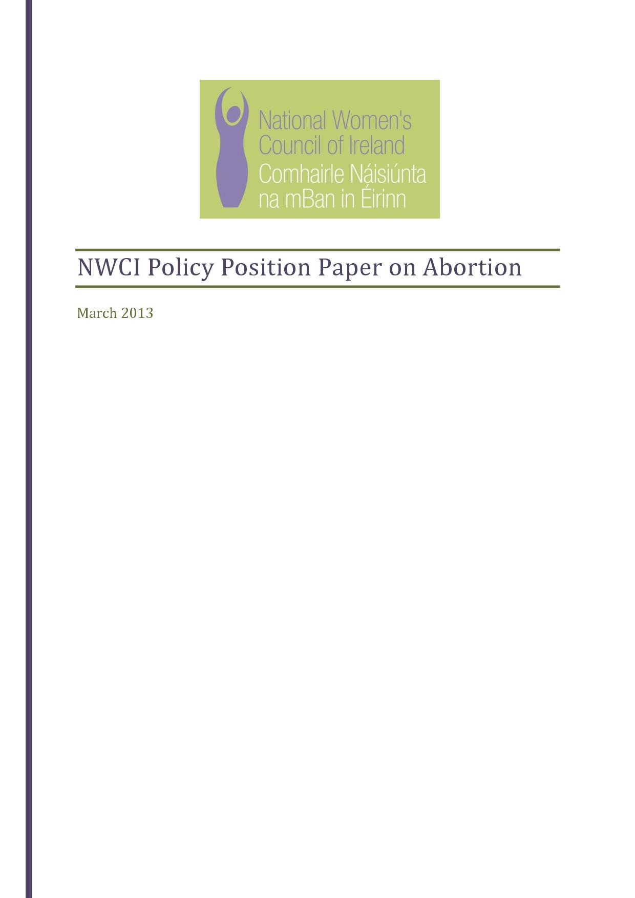 abortion position paper